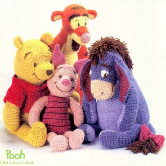 Crochet pattern Winnie the Pooh and friends