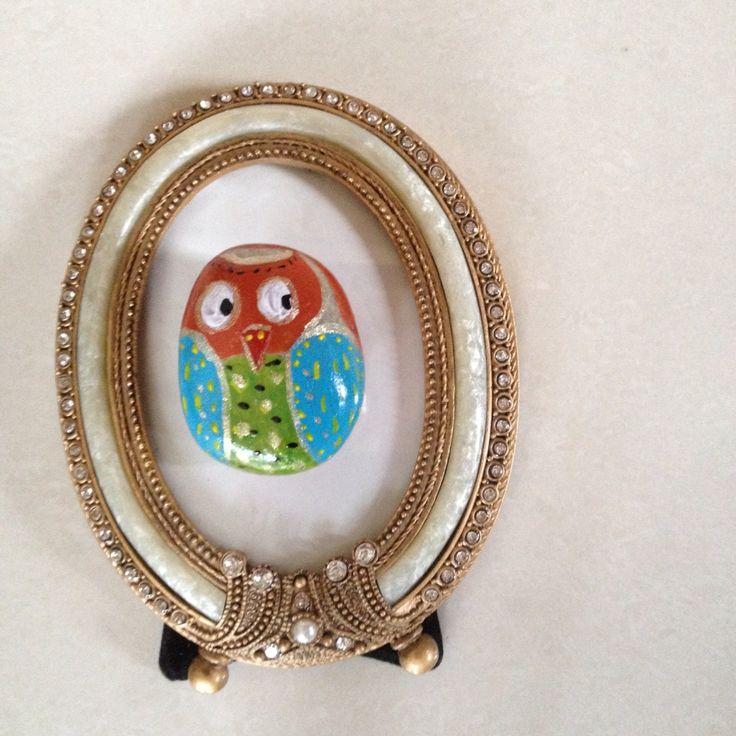Owl#paintedstones#stones#owls