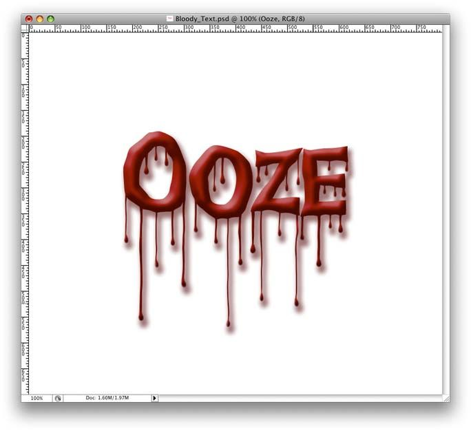 Bloody Font Effect Of Layer Style Of Dripping Blood Text