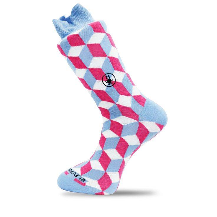 Ethically Sourced Pink and Blue Bamboo Socks