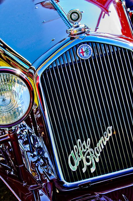 1932 Alfa Romeo 6c 1750 Series V Gran Sport Grille Emblems - Car Images by Jill Reger