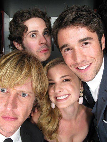 Revenge cast-Connor Paolo, Joshua Bowman, Emily VanCamp, and Gabriel Mann.