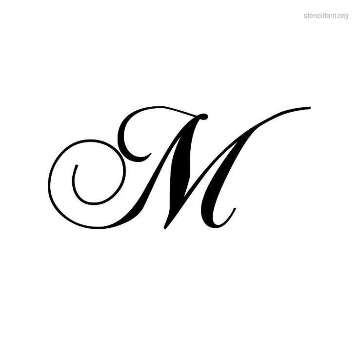 Letter M Script Bold Fonts Script Stencil Font Stencil