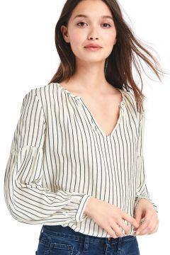 Uzun kollu ayrık yakalı bluz https://modasto.com/gap/kadin-ust-giyim-gomlek-bluz/br5035ct4