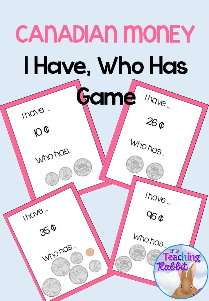 Grade 2 and 3 students will have fun and get extra practice counting coins while playing this Canadian Money I Have Who Has Game!