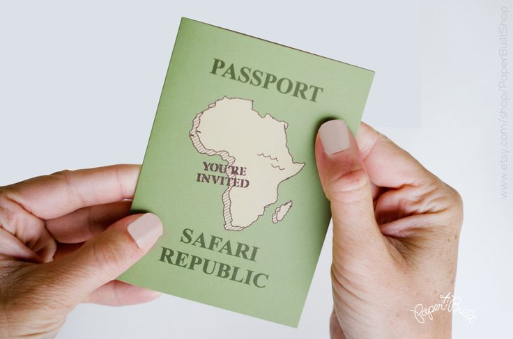 Safari Party Passport Invitation, Safari Birthday, Safari Animals, Jungle Birthday, Safari Baby Shower, Safari Bridal Shower, Animal Party by PaperBuiltShop on Etsy https://www.etsy.com/listing/111138196/safari-party-passport-invitation-safari