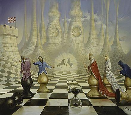 Chess - Vladimir Kush + Alice's adventures in wonderland