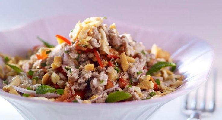 Découvrez la recette de la salade thaï au porc et gingembre