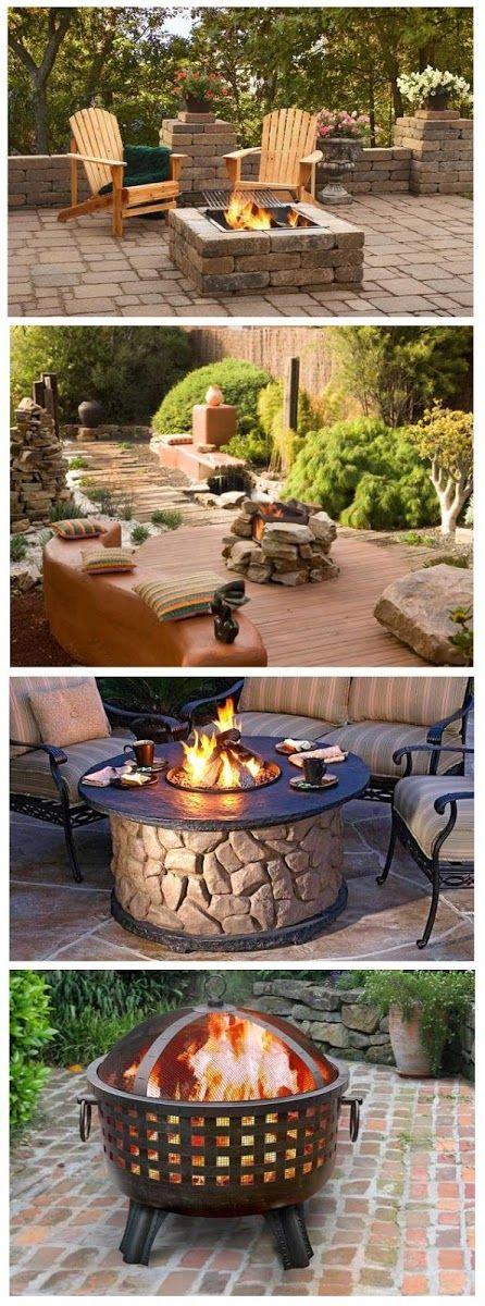 99 best unique fire pits. images on pinterest | landscaping ... - Patio Fire Pit Designs Ideas