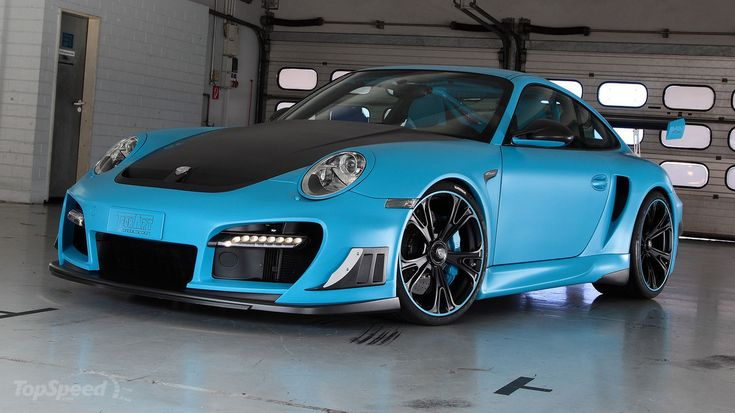 Some one painted a Porsche 911 Turbo GT Street R with really cool TechArt.