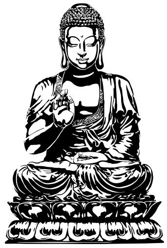 Buddha Stencil Art   Displaying (20) Gallery Images For Buddha Line Art...