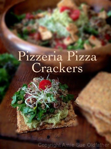 Pizzeria Pizza Crackers  (raw, GF, vegan)