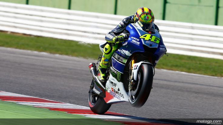 Rossi on Misano test
