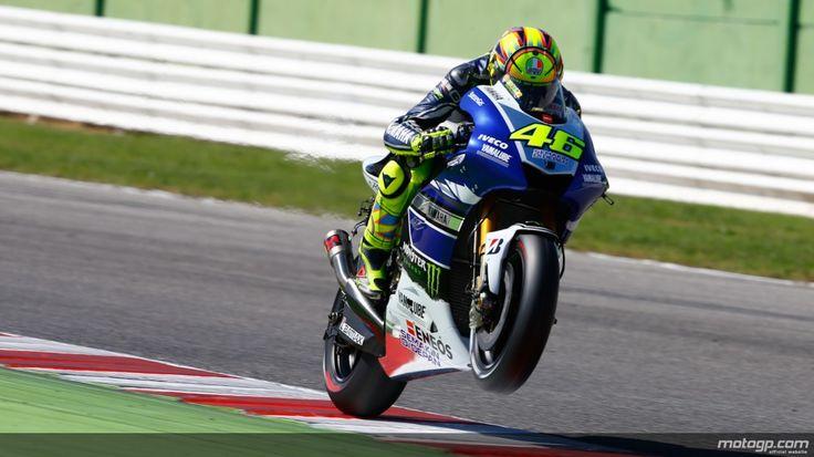 Rossi on Misano test