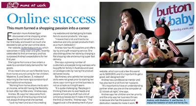 Mums at Work - Andrea offers her tips for online success! Learn how she turned her passion for shopping into a career.