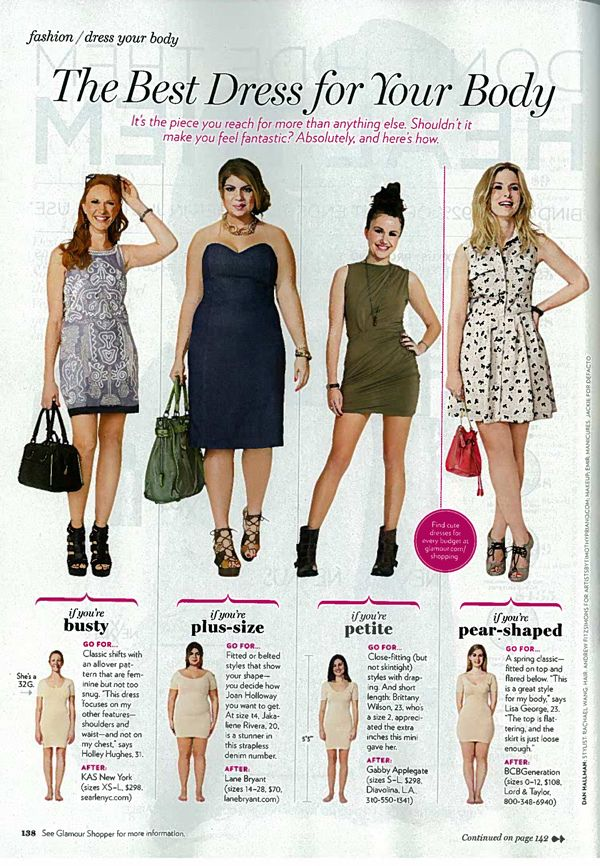 Glamour Magazine Picks Dresses for Petites - March 2011 Issue - Alterations Needed