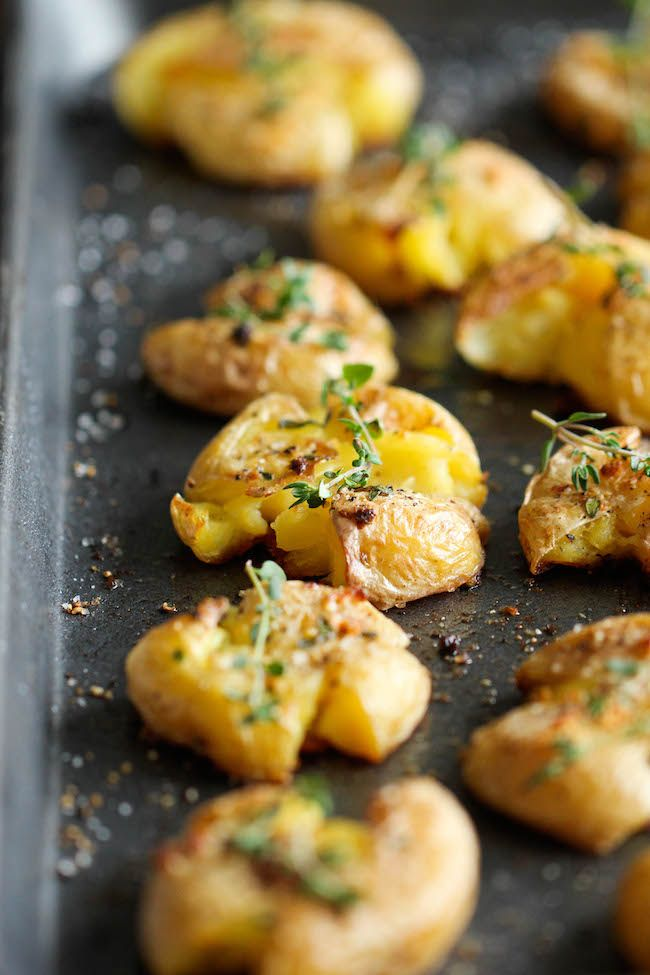 ... Potatoes Recipe, Potato Recipes, Garlic Smashed Potatoes, Veggie, Food