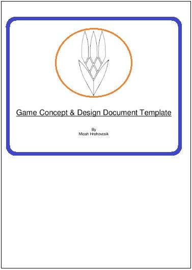 Game Design Document Template Printable Word And PDF Formats - Game concept document example