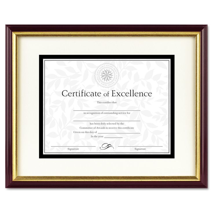 DAX Document or Certificate Frame with Mat - DAX2703S2RX