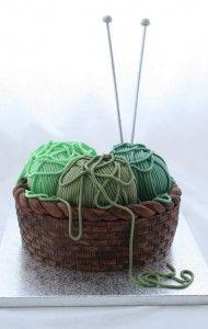 knitting basket cake