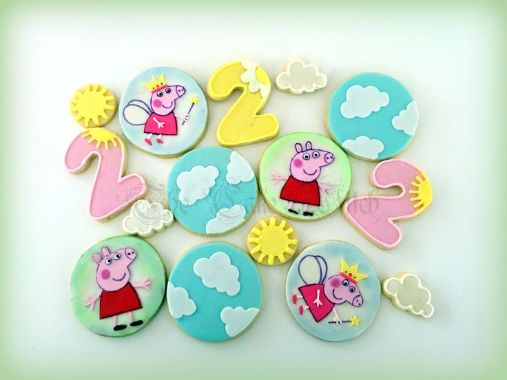 Peppa Pig Decorated Biscuits / Cookies