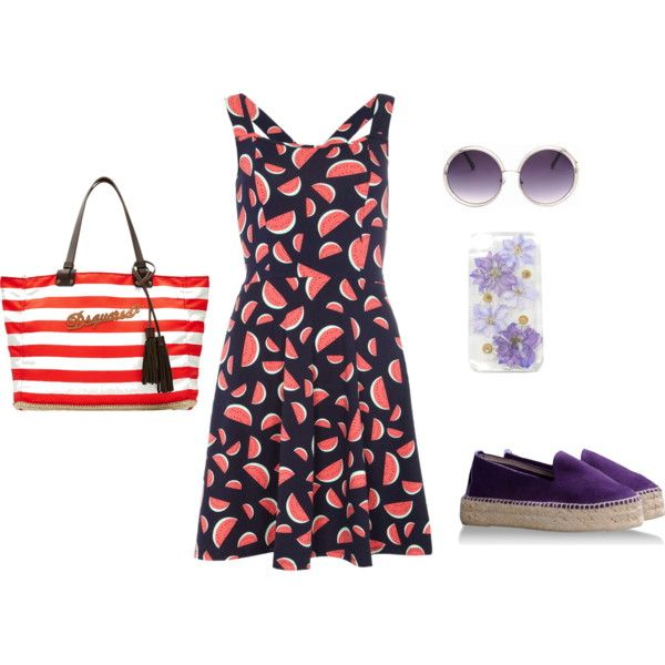 Coral+lilac by clers2009 on Polyvore featuring мода, Dorothy Perkins and Dsquared2