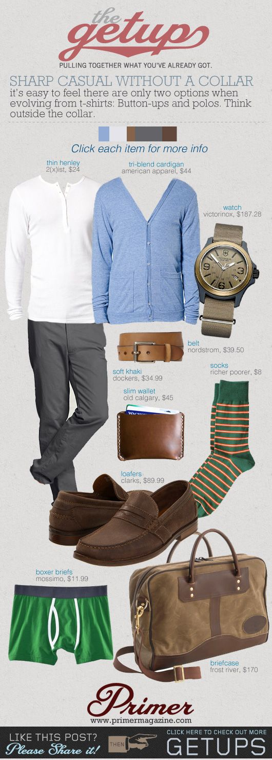 The Getup: Sharp Casual Without A Collar   Primer