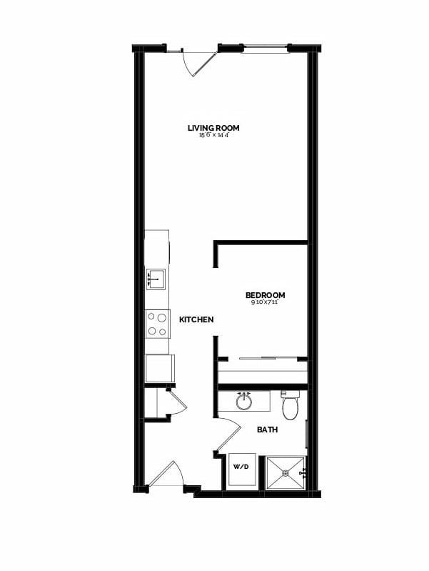 An Airy 600-Square-Foot Seattle Studio Looks Much Larger Home