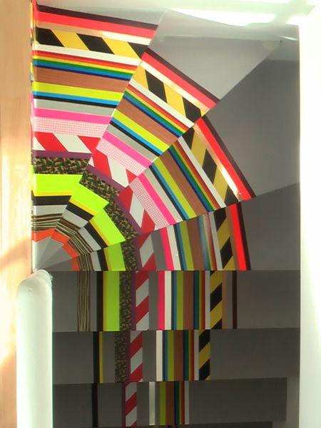 washi tape stairs