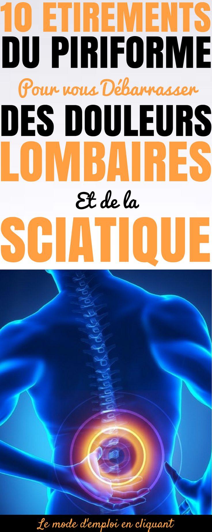 Les douleurs lombaires et la sciatique sont très fréquentes et peuvent être le résultat de diverses causes. L'une d'entre elles n'est généralement pas le principal suspect, mais il se produit plus souvent qu'on ne le pense : la constriction ou l'inflammation du muscle piriforme. Ce petit muscle est situé juste derrière le grand fessier, reliant la colonne vertébrale au sommet du fémur. Si le muscle piriforme se raidit, se tire, ou s'enflamme, des étirements..#santé #astuces…