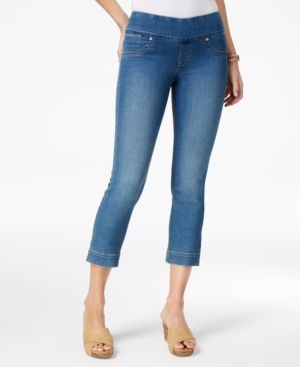 Style & Co Pull-On Capri Jeans, Only at Macy's - Blue XXL