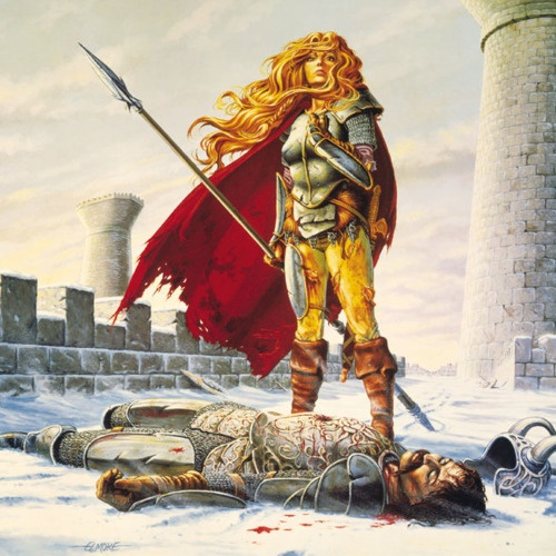 """Larry Elmore gets a lot of shit for being one of the old-school cheesecake artists of Dungeons & Dragons, I tend towards old-school myself so I've always kind of liked him even with all those """"chainkinis in the snow"""" type Dragon Magazine covers.    The Dragonlance books similarly get a lot of flack for being derivative (TSR certainly milked 'em to death) but I gotta tell you when I was twelve and Alhana Laurana went from lovestruck elven princess to bad-ass warrior general facing impossible…"""
