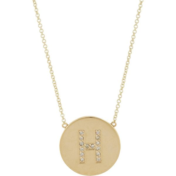 Jennifer Meyer Women's Initial Pendant Necklace ($1,800) ❤ liked on Polyvore featuring jewelry, necklaces, colorless, cable chain necklace, letter pendants, letter pendant necklace, 14k chain necklace and letter necklace