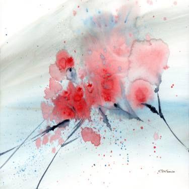 "Saatchi Art Artist Valentina Di Serio; Painting, ""Rosa Giappone n.1"" #art"