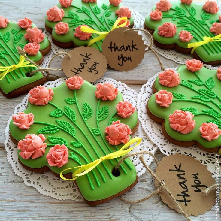 Купить Пряники Букет роз - зеленый, пряник, пряник расписной, пряники ручной работы