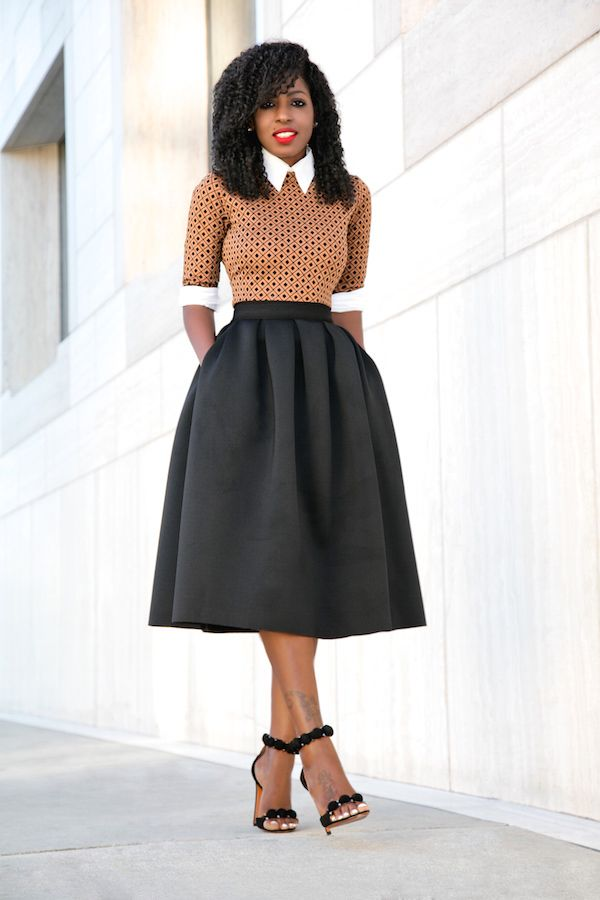 Button Down Shirt + Midi Dress + Full Midi Skirt