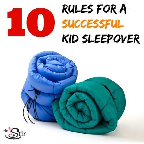 Hosting some kids for a sleepover or slumber party? These rules are a MUST!