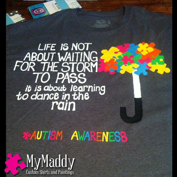 Autism Awareness has a symbol  the puzzle by MyMaddyCustoms, $15.00