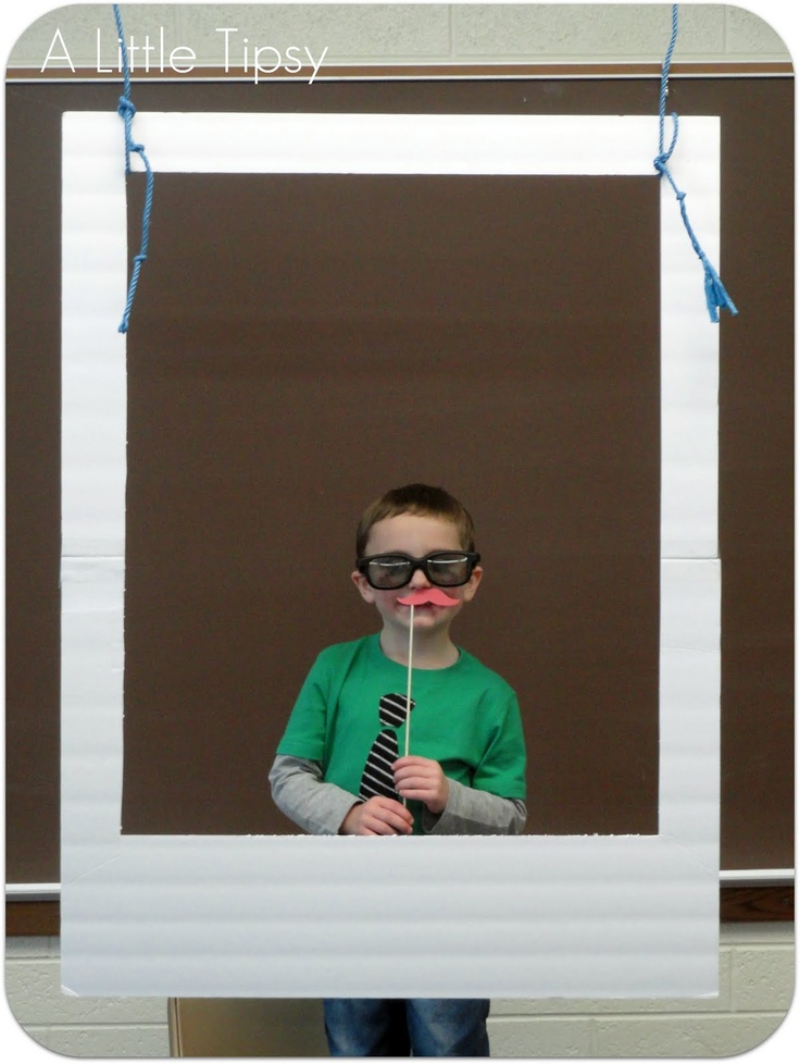 DIY Photo Booth with props for a wedding reception or even a birthday party! So easy and fun :)