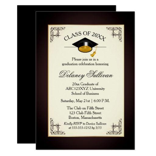 Formal College Graduation Invitations College Graduation