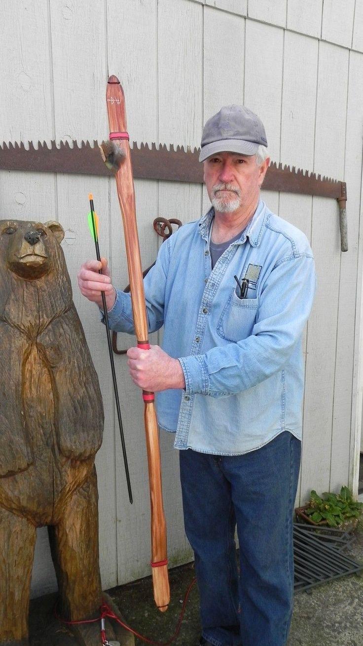 "Archery Recurve 40 45 lb ""Native American Buckskin Bow"" 60"" Leather Handle | eBay"