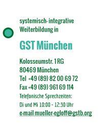 GST - Weiter mit Bildung: Gesellschaft für Systemische Therapie und Beratung, Weiterbildung Ausbildung Berlin und München - SystemischeBeratung (DGSF)