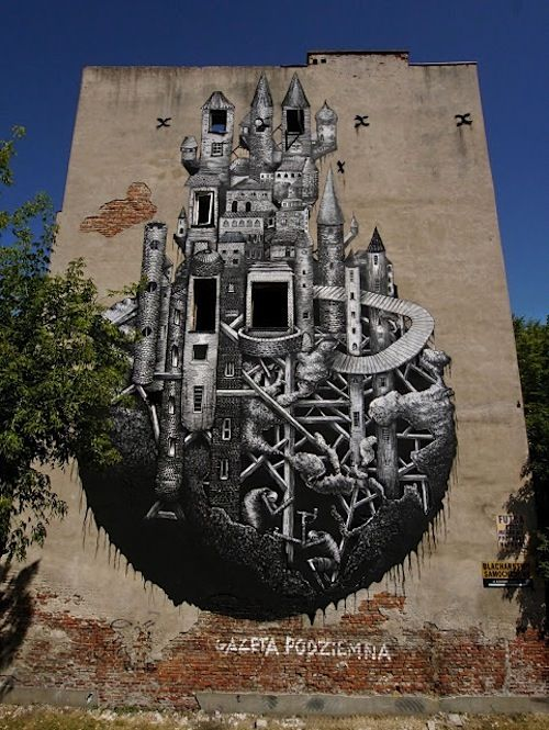 New Mural by Phlegm in Warsaw // Poland