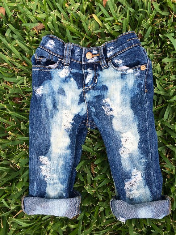 So cute!! Distressed Baby Blue Jeans by UrbanRubbish on Etsy