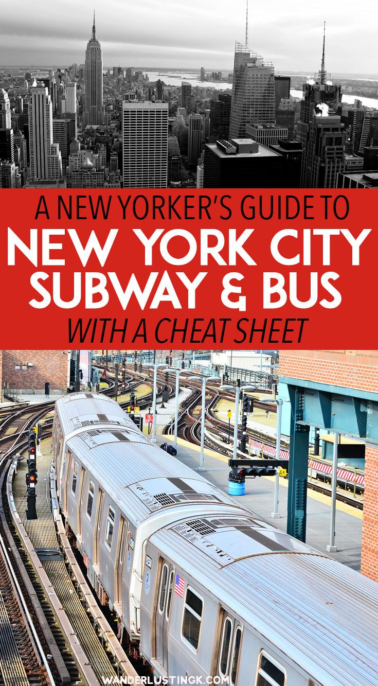 Visiting New York? A New Yorker's guide to the New York City Subway with NYC public transit FAQs, including subway etiquette. #NYC #Travel #NewYork