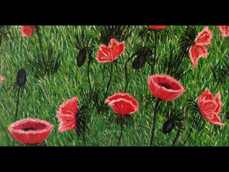 Excited to share the latest addition to my #etsy shop: The red field of poppies. Oil on canvas. Original painting. FREE SHIPPING. LARGE. Art