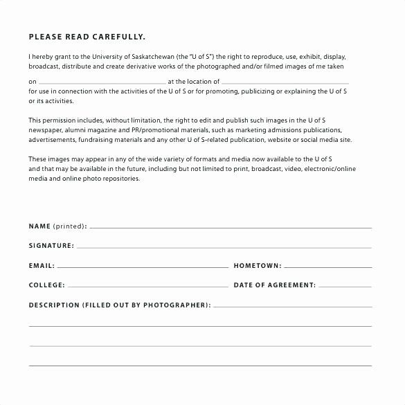 Social Media Permission Form In 2020 Photography Release Form