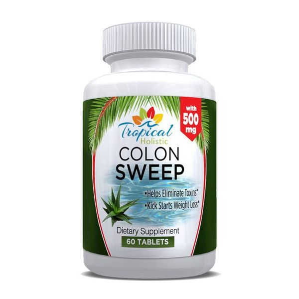 Tropical Holistic COLON SWEEP Dietary Supplement 60 Tablets Tropical Holistic Colon Cleanse Detox Supplement is a natural, internal detoxifying blend of eleven unique herbs, fiber and nutrients that w