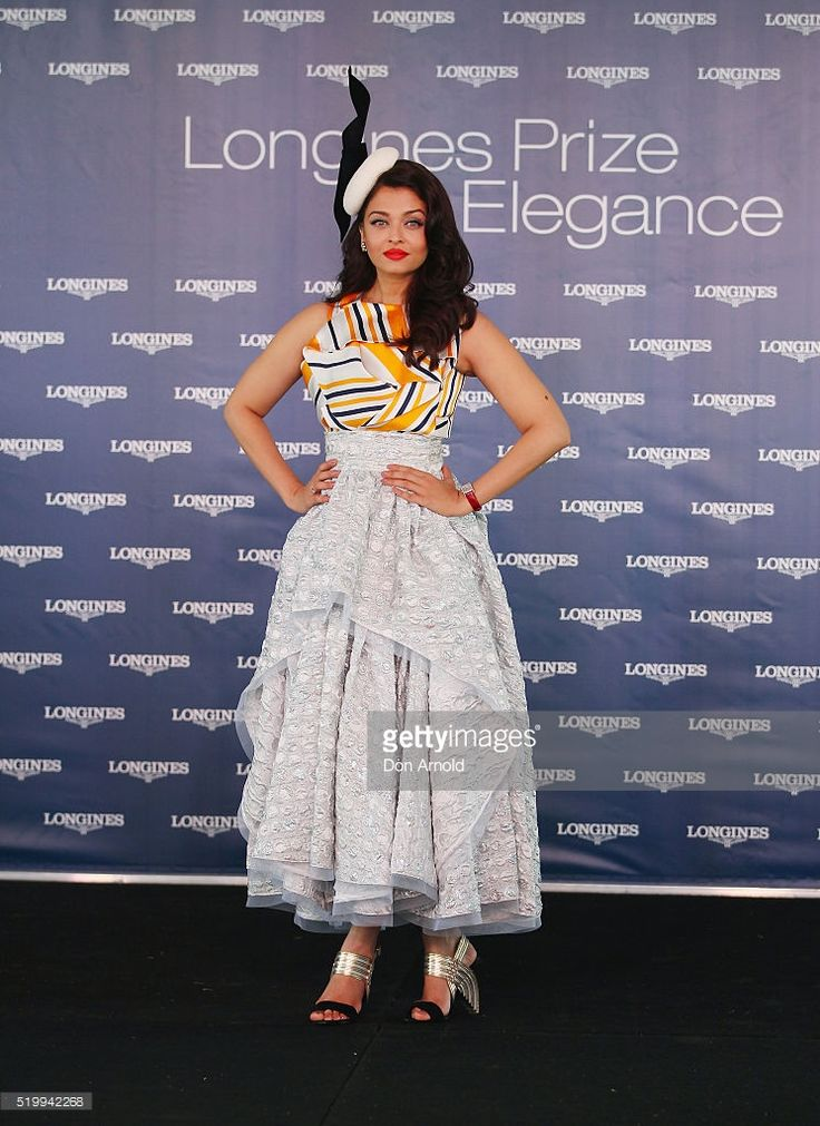 Aishwarya Rai Bachchan poses during Queen Elizabeth Stakes Day at Royal Randwick Racecourse on April 9, 2016 in Sydney, Australia.