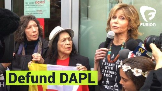 Jane Fonda Celebrates Birthday By Marching To Defund Dakota Access Pipeline #news #alternativenews